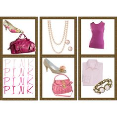 Pink accessories for work