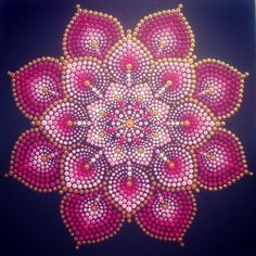Mandala 'RoseGold' Acrylic on canvas board.