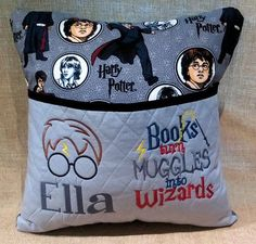 Reading Pillow  Harry Potter  Bed Pillow  Hypoallergenic
