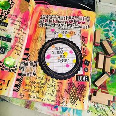 """Tonight's page in my #minisidekicktomyjournalingbible .....simple....but I think it's one of my favorites. """"Jesus' words...'Not my will....but Your's be done' need to be an essential part of every prayer I pray....because at the end of the day....He always knows best!"""" #artjournalingtherapy #artjournaling #journalingbible #biblejournaling #prayer #illustratedfaith #biblestudy #simple #create #truth #mixedmedia #collage #stamps  #washitape #irresistibleneon #themutegirlroars by…"""