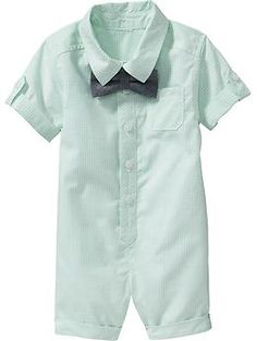 One-Piece Tie Sets for Baby. Old Navy mint& chambray. G family pic