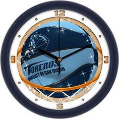 Mens San Diego Toreros - Slam Dunk Wall Clock