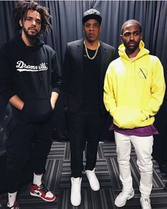 Kendrick lamar and j coleth great rappers obsessed with november 2016 its a family thing roc nation jay z j cole and big sean backstage at the get out the vote concert for hillary clinton held at cleveland malvernweather Gallery