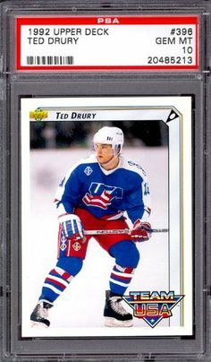 1992 Upper Deck #396 Ted Drury Rookie USA PSA 10 pop 7 by Upper Deck. $12.25. 1992 Upper Deck #396 Ted Drury Rookie USA PSA 10 pop 7. If multiple items appear in the image, the item you are purchasing is the one described in the title.