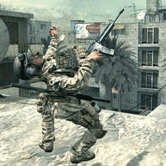 This time a soldier broke his back and raised the roof. AT THE SAME TIME. | 17 Video Games Glitches That Will Make You Question Reality