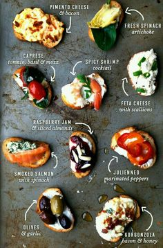 19 Easy Spanish Recipes to Throw the Best Tapas Party Ever New Year's Eve Appetizers, Appetizer Recipes, Tapas Recipes, Party Recipes, Recipes Dinner, Appetizer Ideas, Wine Party Appetizers, Seafood Recipes, Fingerfood Party Ideas