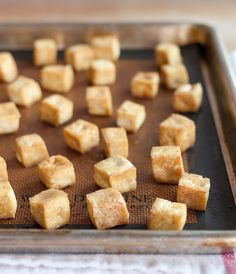 Quick way to make tofu crispy on the outside! How To Make Baked Tofu for Salads, Sandwiches & Snacks Cooking Lessons from The Kitchn Tofu Recipes, Vegetarian Recipes, Cooking Recipes, Cooking Tofu, Vegetarian Salad, Going Vegetarian, Cooking Games, Cooking Turkey, Salad Recipes