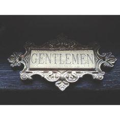 Gentlemen's Bathroom Sign $20 etsy perfect for the boys bathroom