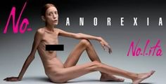 """This brave model who bared it all in a controversial campaigned called """"No Anorexia"""" .... Almost all magazines and ad agencies REFUSED to publish it!!!!"""