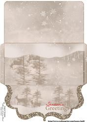 Reindeer Scenery Gift / Voucher / Money Wallet