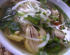 Chicken pho noodle soup