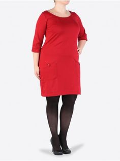 Une jolie robe grande taille rouge - 29,99€ jusqu'en taille 56!