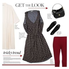 """""""TrickyTrend Dress & Pants"""" by tawnee-tnt ❤ liked on Polyvore featuring Collective Concepts, Monki, ASOS, Coach and TrickyTrend"""