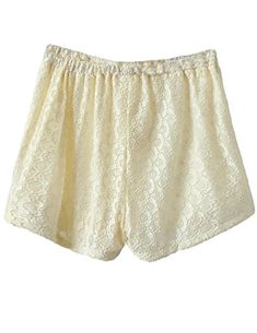 ZANLICE Women's Lace Tight Shorts Safety Panties Boyshort XX-Large Beige *** You can get more details by clicking on the image. Shorts With Tights, Boy Shorts, Lace Shorts, Safety, Beige, Popular, Boys, Fabric, Cotton
