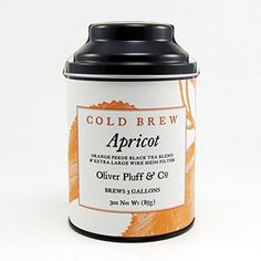 Cold Brew Tea Apricot 3oz Tin With Large Wire Mesh Teaball You Can