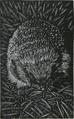 I am not sure if this is a linocut...or maybe scratchboard...but, I really like it!