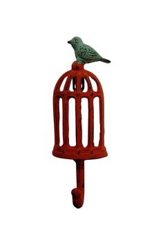 "You'll fall in love with the Bird Cage Wall Hook. A beautiful & elegant addition to you wall decor!    Measures 3"" wide x 8.5"" tall.   Bird Cage Hook by Midwest CBK. Home & Gifts - Home Decor - Decorative Objects Woodstock, Georgia"