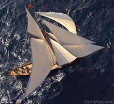 Classic Yacht Sailing at Les Voiles de Saint-Tropez | YachtPals.com - it took me a while  to figure out how to set the topsail on the Gem. When we purchased we did not have a yard and it is not a shelf item.