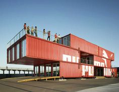 A retail store that can load onto a cargo ship and go anywhere.