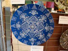 Hand painted mandala style decorative plate by ElenaPrikhodkoKnapp