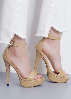 b8b4f565b9c24b Buy Summer Sexy Girl Fashion Succinct Shiny PU Leather Platform Thin High  Heels Women Sandals Peep Toe Woman Wedding Shoes