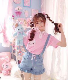 Outfits Kawaii, Cute Girl Outfits, Kawaii Clothes, Harajuku Fashion, Kawaii Fashion, Lolita Fashion, Cute Fashion, Cute Asian Girls, Cute Girls