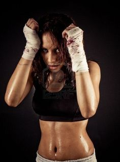 Alexandra during boxing training