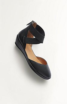 Gentle Souls® Noa wedges in J. Jill Catalogue, they look just like ballet toe shoes.