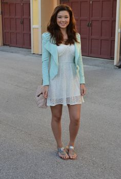 Blogger Cheon-Hwa Jones of Raspberry Jam looks adorbs in this Charlotte Russe lace dress!