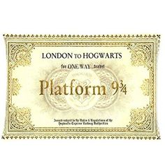 New Fashion Personalized Custom Harry Potter Hogwarts Train Ticket Custom Throw Pillow Case New Year Gift 20X30 Inch 2 Sides For Room