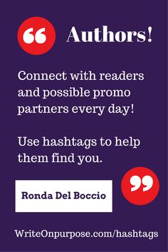 Hashtags for authors - how & why to use them, plus a huge list to help you connect with readers, promp partners, publishers, editors, etc. || This is very helpful!