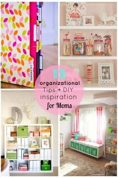 It's a new year! Do you have a resolution to get organized? Browse through 12 organizational tips and diy inspiration for moms.