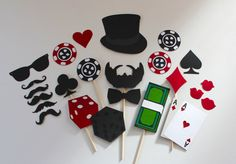 Casino Photo Booth Props. James Bond, Poker Night Photobooth