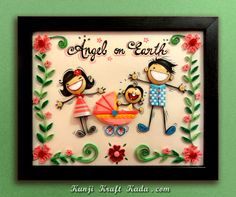Quilled frame work