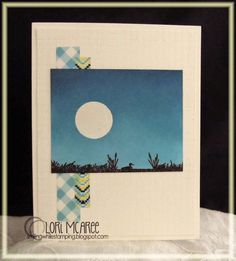 Smiling while Stamping: Grass handmade card using Sweet 'n Sassy Landscape Silhouettes stamp set