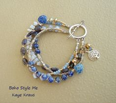 Bracciale boho albero braccialetto di perline a di BohoStyleMe