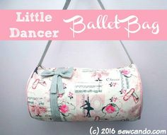 Timeless Treasures | Tutorial: Little Dancer Ballet Bag by Sew Can Do