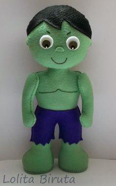 Hulk em feltro para decoração de festas