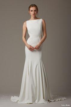 lela rose bridal spring 2016 the paddock sleeveless mermaid wedding dress sheer lace panel side