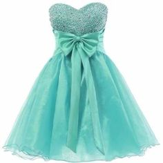 """Mint Homecoming Dresses, Sweetheart Sweet 16 Dress, Organza Short Cute Homecoming Dresses / Party Dresses / Prom Dresses """"Can't wait for our girls next yr 2015 we get a break for couple years! Dama Dresses, Quince Dresses, Hoco Dresses, Prom Gowns, Evening Gowns, Girls Dresses, Formal Dresses, Dresses 2016, Sparkle Dresses"""