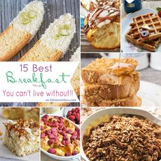 15 Best Breakfast Recipes {You Can't Live Without} Everything you could ever want - every delicious recipe - all right here! YUM!!  on kleinworthco.com