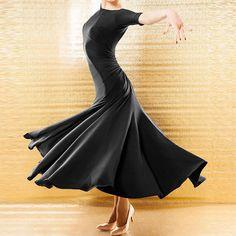 Latin Ballroom Competition Dance Dress Modern Waltz Tango Standard Dress#YG018