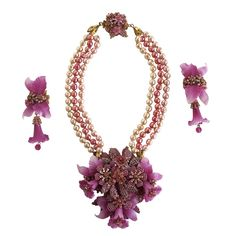 stanley hagler vintage jewelry | Stanley Hagler Necklace and Earring Set