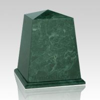 The Obelisk Green Marble Urn is made from natural quarried green marble. The marble urn can be etched with our beautiful designs. Each marble urn is unique and no two urns will ever be the same, a wonderful urn to create memorial for your loved one. You can have this urn with 75 different designs, please see the pictures below (click for enlargement) and select your choice from the menu option.  Bottom opening.