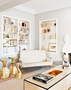 books + those end tables!
