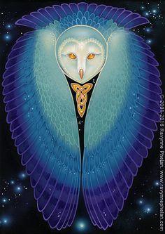 Ravynne Phelan - Dreams of Gaia Tarot and Fantasy Art Owl Art, Bird Art, Astro Tarot, Fantasy Literature, Pagan Art, Spirited Art, Animal Totems, Visionary Art, Native American Art