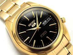 NEW-MEN-039-S-GOLD-SEIKO-5-034-21-JEWEL-034-AUTOMATIC-DAY-DATE-ANALOG-WATCH-SNKL50K1
