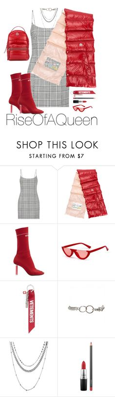"""Siren🚨"" by riseofaqueen on Polyvore featuring Alexander Wang, Moncler, Vetements and MAC Cosmetics"