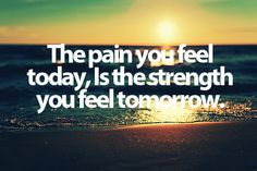 No... I'm thinking that the pain I'm feeling today will be worse tomorrow. Stupid p90x