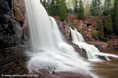 """""""Gooseberry Falls State Park"""" ... is one of the most popular state parks in Minnesota. Located on the beautiful north shore of Lake Superior, the park's close proximity to Duluth makes it perfect for a day trip and a must-stop during your travels along Highway 61. Would love to see this one day! ♥ #MSPgetawaypinfest"""